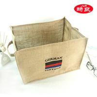 Zakka fluid hemp magazine storage box storage box finishing bag finishing basket hemp storage