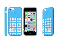 Rouch Hole Design Back Cover Soft Skin Case For iPhone 5C, 200Pcs/lot DHL Free Shipping