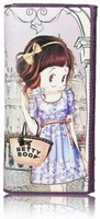 Кошелек BETTY BOOP women's fashion two-fold long wallet a4074-19 incarnadine pink