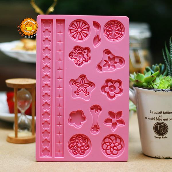 bricolage décoratif fleur moule à cake en silicone outils de cuisson accessoires de cuisine chocolats sugarcraft fondant décorations pour gâteaux