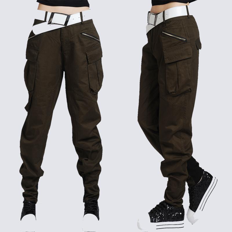 Luxury Boyfriend Pants Abercrombie 2 Women Cropped Beige Khaki Stretch Baggy