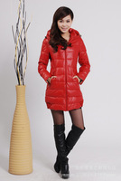 free shipping 2013 fashion women long design winter ourwear women's down jacket coat L0361