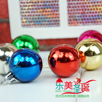 Christmas garishness light ball decoration christmas ball decoration accessories pendant light 4cm ball
