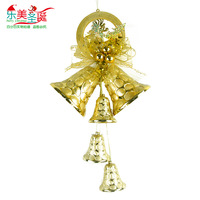 Christmas decoration christmas tree decoration gift gold christmas wreath door hanging Large christmas bells