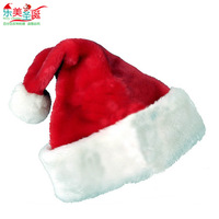 Christmas decoration christmas hats quality plush christmas hat beauty christmas hat