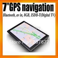 "Brazil South America Digital TV 7""GPS Navigation+Bluetooth+AV IN +8GB+ISDB-T+FMT+Ebook Reader+Free Map Voice Guider"