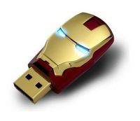 4gb 8gb 16gb 32gb metal gold iron man USB 2.0 flash drive memory pen disk Drop ship dropshipping