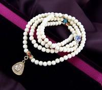 Multilayer circle color plutus kaiyun small smiling Buddha Thai Buddha card round bead bracelet
