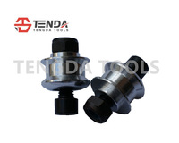 TENGDA TOOLS, SILVERY M10 MOTORCYCLE PADDOCK STAND BOBBINS, STAND SPOOLS, MOTORCYCLE TOOLS