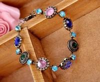 Retro socialite luxuriant gem Rhinestone fancy bracelets 2013 with free shipping