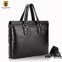 William genuine leather man bag commercial handbag messenger bag male shoulder bag cowhide computer briefcase