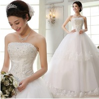 Free shipping, new arrival wedding dress formal dress luxury diamond tube top bandage wedding dresses, Drop shipping, PD0043