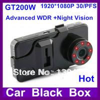 New  2.7'' Car DVR GT200W Full HD 1080P 30FPS with Advanced WDR + G-Sensor + Night Vision + HDMI + 140 Degree