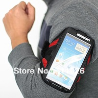 Free Shipping Mesh eco-friendly Sports belt Gym Arm Band Armband Case Cover For  Samsung N7100 Galaxy Note 2