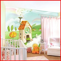 Child wallpaper b mural child room wallpaper girl cartoon comic wallpaper