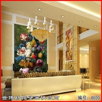 B mural fashion wallpaper wall stickers tv sofa entranceway background wallpaper oil painting 8020