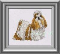 Free shipping DIY unfinished Cross Stitch kit Animal dog World Shih Tzu  ZA-G312