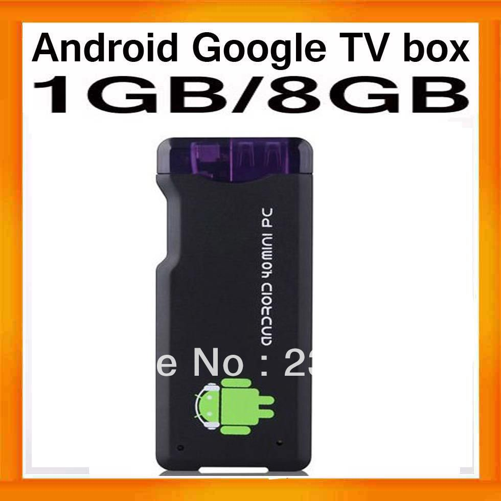 Livraison gratuite 4.0 android de google tv box pc mini dongle tv stick allwinner a10s 1.2 ghz 1 go de ram rom 8gb ddr3