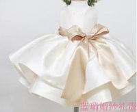 Child  female child puff skirt   princess flower   skirt wedding   baby girl dresses party dress kids clothes