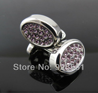 men's Cufflinks/sleeve nail/pink/ellipse shape design/ French style, free shipping
