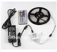 5M SMD RGB 5050 NON-Waterproof Strip light 300 LED+44 Key IR Remote+12V 5A power