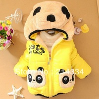 free shipping  2013 new children's winter coat baby coat pocket wholesale dual Bear