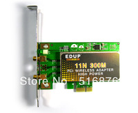 Free Shipping EDUP EP-9601 300M 802.11N WIFI PCI Wireless N Network Adapter Lan Network Card with Dual Antennas