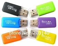 Free Shipping High Speed USB 2.0 TF Card Reader Mini USB 2.0 Micro SD TF Memory Card Reader T Flash