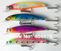 New Arrival, style 4 colors 8CM/6G Transparent laser Minnow fishing lures,fishing hard bait,20pcs/lot,Free shipping