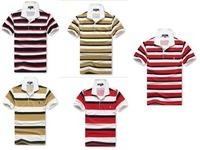 HOT SALE ! Summer Leisure fashion, high quality lapel Short sleeves, Stripe,  men T-shirts size M L XL XXL