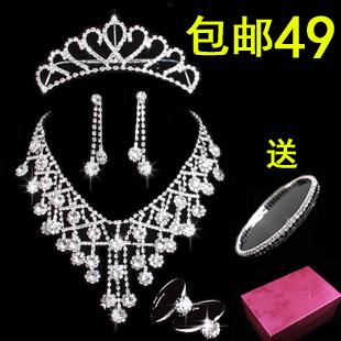 The bride accessories marriage accessories the bride necklace set wedding decoration piece set accessories hair accessory