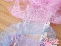 Hot! DIY Material Cartoon Bouquet Decoration Materials 6CM*25Yard Double Layer Sequins Lace