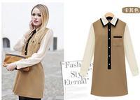 Free Shipping Designer Famous Brand Plus Size Fitted Winter Dresses Fashion Slim Basic Dress 4XL Women DM131867