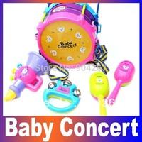 Baby toy concert child musical instrument baby hand drum set 5 piece set drum sand hammer rattles, Wholesale Retails Hot