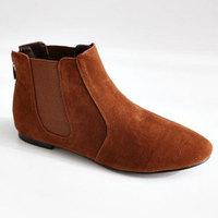 New Korean Autumn Fashion Retro Women Vogue Ankle Shoce Flat Shoes Casul Boots