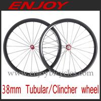light weight 38mm tubular bicycle wheels 700c tubular road bike wheelset