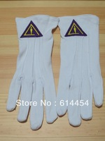 Masonic Gloves Mason Freedom Customized Made Embroidery N5