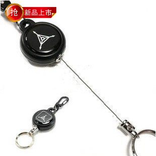 Outdoor tad anti-theft cable safety buckle retractable steel wire rope keychain quick release hanging buckle