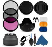 3 pop up diffuser 58MM Filter CPL+UV Set + Lens Hood + Cap + Cleaning Kit for Canon Rebel T4i T3i T3 T2i T1i XT XS XSi 18-55mm