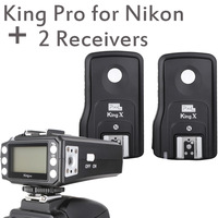 Pixel King Pro Wireless 1/8000s TTL Flash Trigger with 2 Receivers for Nikon