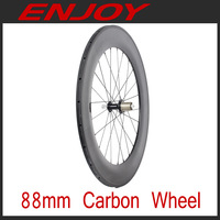 light weight 88mm carbon tubular bicycle wheels for 700c road/track/fixe bike wheelset