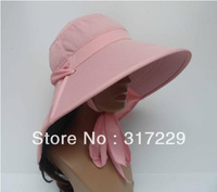 New Fashion Pink  Woman Outdoor Neck Face Sun Protection Windproof Hat Beach Riding Cap