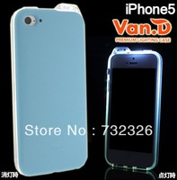 Christmas Gift Van.D Fashion Lightning Flash Protective Luminous Case for iPhone 5 Free Shipping 20pcs/lot