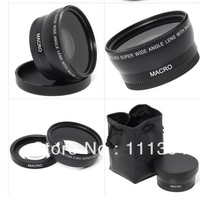 52MM 0.45X Wide Angle Lens + Macro + Lens Bag for Nikon D5000 D5100 D3100 D7000 D3200 D80 D90(China (Mainland))