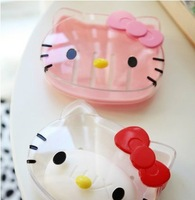 awaii Transparent Hello Kitty Soap Box,Soap Hard Case,Bathroom Stuff Retail 2pcs/set Free Ship