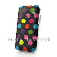 Polka Dots Soft TPU Gel Case Cover Skin for Samsung Galaxy Ace Plus S7500 free shipping