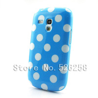 Polka Dots Soft TPU Gel Case Cover Skin for SAMSUNG Galaxy S3 Mini i8190 free shipping