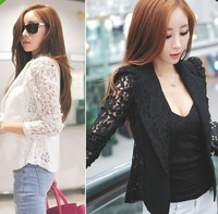 2013 New arrival hot sales Fashion women Lace stitching Slim suit jackets free shipping
