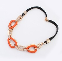 Min.order is $10 (mix order),European and American fashion personality a braided rope necklace.(1)free shipping