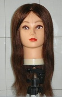 100% human hair  training mannequin head with clamp free shiping